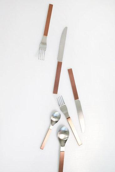 Modern contemporary flatware brass copper blue colourful kitchen utensils muller van severen