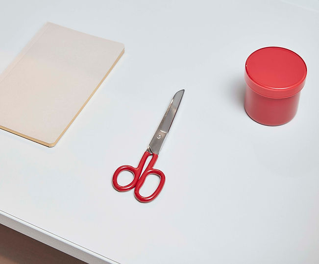 Grip Scissors M red_Container S red by HAY at Goodroom.jpg