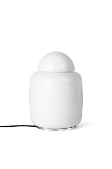 Bell Lamp by Ferm Living - White Glass Vintage 70's Inspired Lamp
