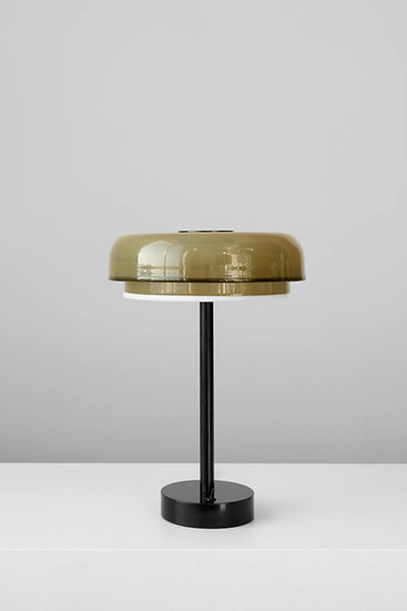 TIERED DISC RIMMED TABLE LAMP
