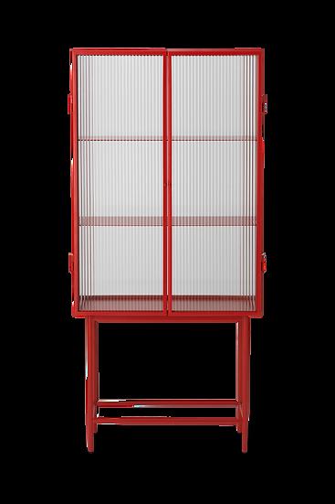 Storage Living Room Dining Room Cabinet Shelf Hutch Modern Glass Metal Red Ferm Living