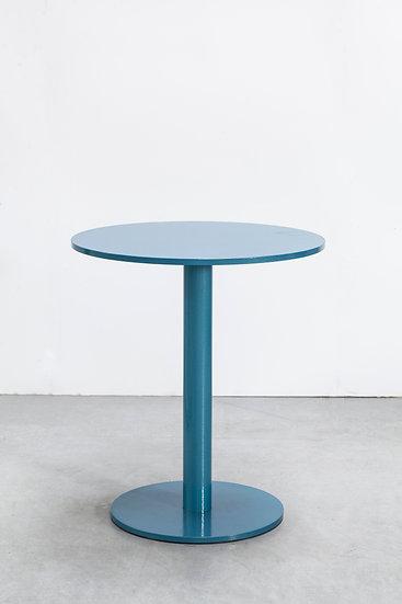 Muller Van Severen Indoor/Outdoor Table Industrial Hospitality Residential Aluminum Modern Contemporary Front Steel Blue