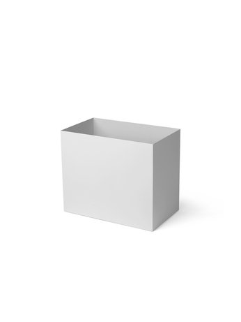 PLANT BOX POT - LARGE - LIGHT GREY