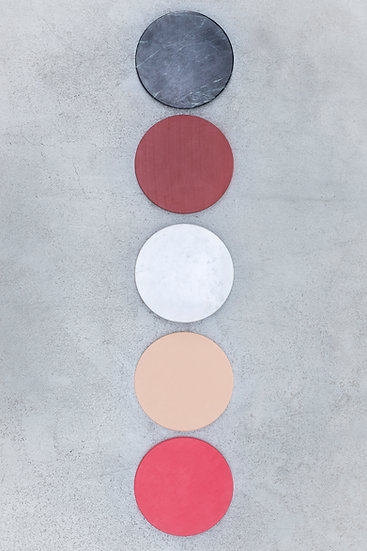 Muller Van Severen 5 Circles, Luxury Kitchen Cutting Boards, Marble and Plastic Top View