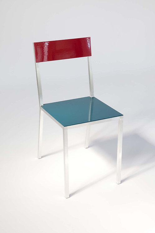CHAIR #2 - BORDEAUX/BLUE METALLIC