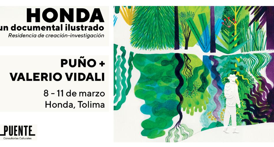 Estuvimos en Honda dibujando con               Valerio Vidali+Puño