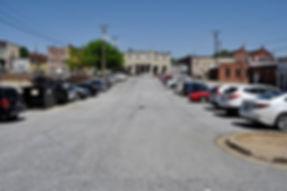 School Street Parking Lot before paving