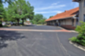 Depot Parking Lot after paving
