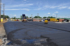 South Depot Parking Lot after paving