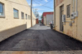 East alley after paving