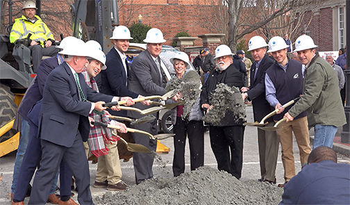 Center G streetscape groundbreaking