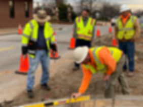 Crews take a look at Victoria Street during construction