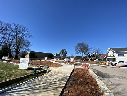 wide view of school and main street