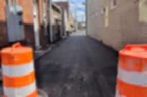 West alley after paving