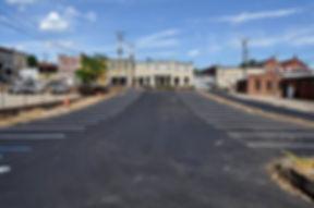 School Street Parking Lot after paving