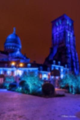 noel,heure bleu,pose longue,tours,cathédrale,st martin