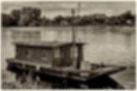 fleuve,loire,bateau,nb,noir et blanc,sépia