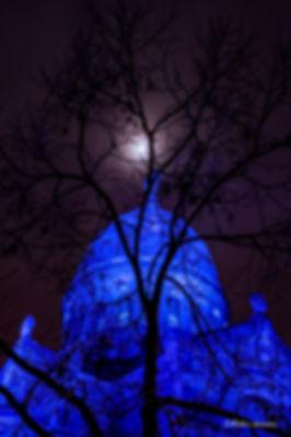 noel,heure bleu,pose longue,tours,cathédrale,st martin,