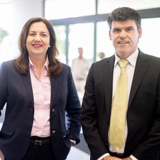 Premier Annastacia Palaszczuk and Philip Cowley