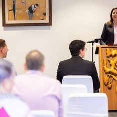 Premier Annastacia Palaszczuk at the Tree of Knowledge Lecturn