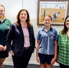 Premier Annastacia Palaszczuk, Minister Grace Grace and Barcaldine Student Representatives