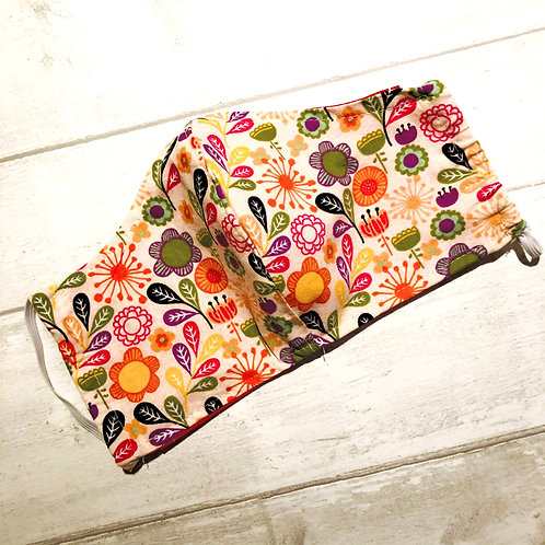 Bright Floral Mask