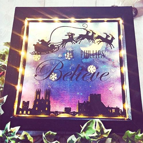 Personalised Christmas *Believe* Frame