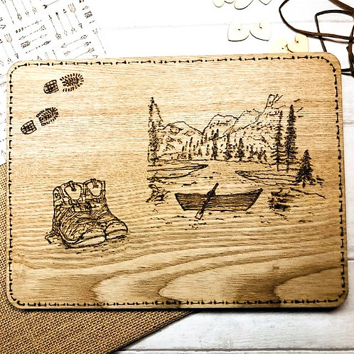 Personalised Wooden Board, hand burned