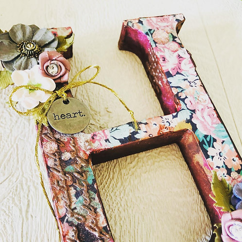 Hand Decorated Wooden Letter