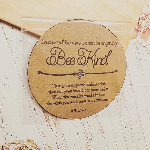 Bee Kind Wish Bracelet