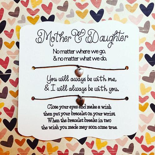 Mother & Daughter Wish Bracelet