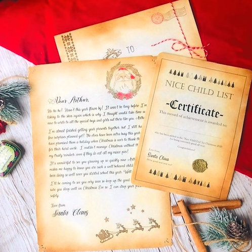Authentic Personalised Letter from Santa Claus /Father Christmas