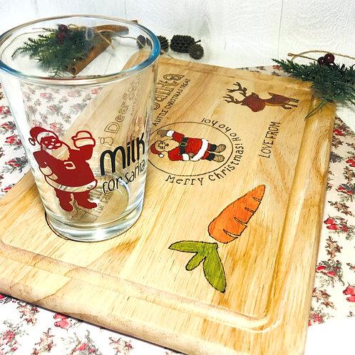 Personalised Milk for Santa glass