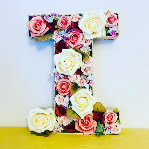 Flower-Filled Letters or Numbers