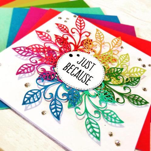 Rainbow coloured Card