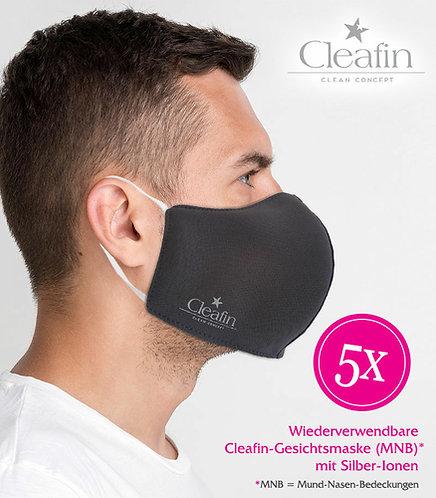 Wiederverwendbare Gesichtsmaske Gr. XL in anthrazit, 5VE