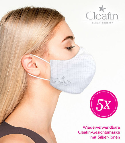 Wiederverwendbare Gesichtsmaske Gr. M, 5 VE