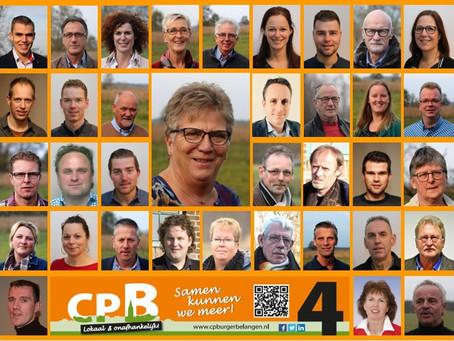 Kandidatenlijst CPB voor gemeenteraadsverkiezing 2018 in Steenwijkerland goedgekeurd.