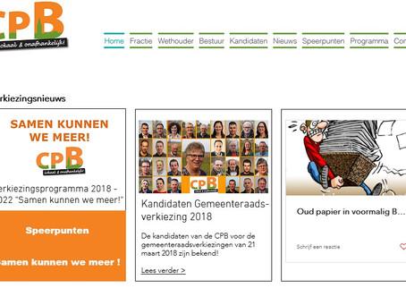 Christelijke Partij Burgerbelangen vernieuwd website