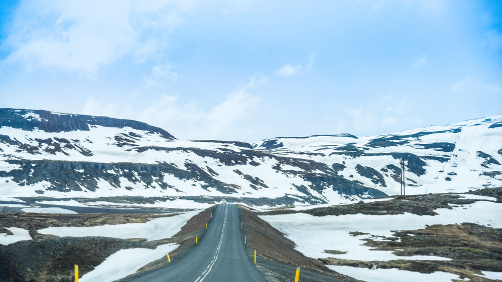 Ring Road during winter camping in Iceland