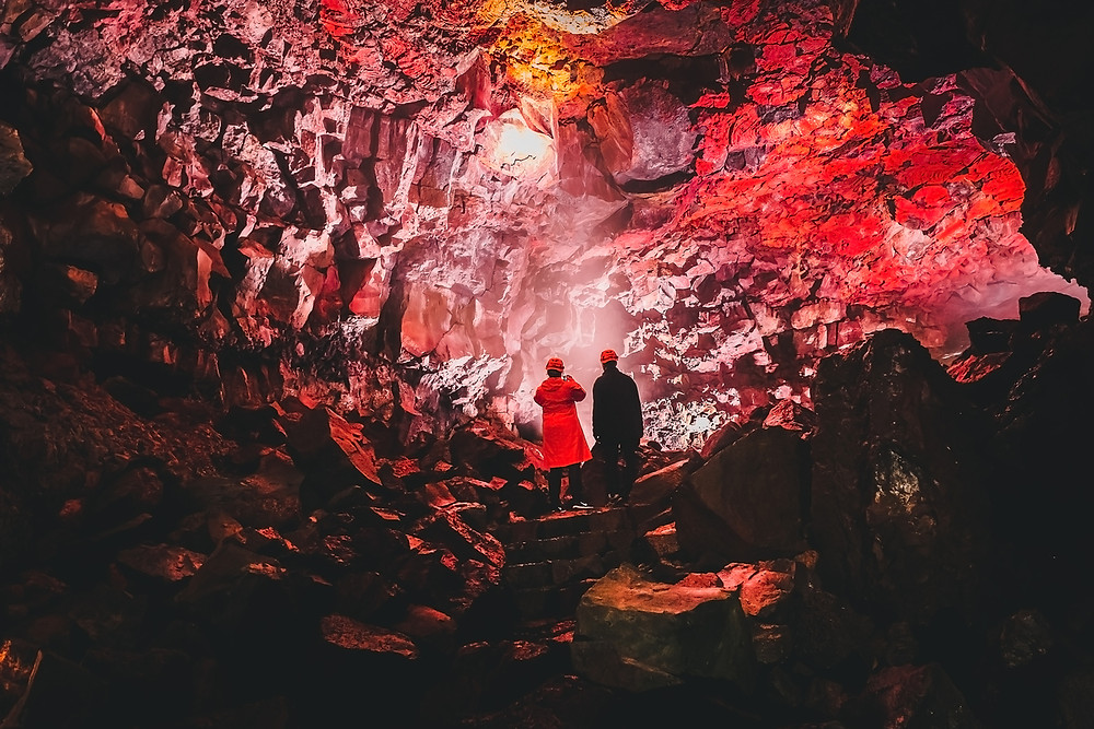 The Vatnshellir lava tube is an activity related to volcanoes in Iceland