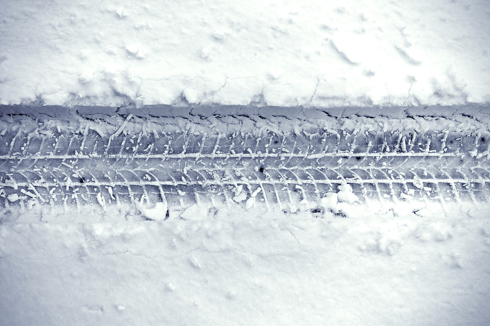 Snow tires in Iceland tracks