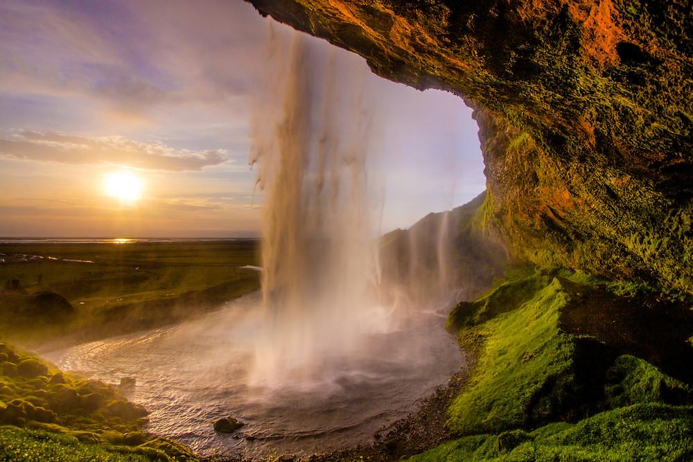 Iceland's most beautiful waterfall Seljalandsfoss
