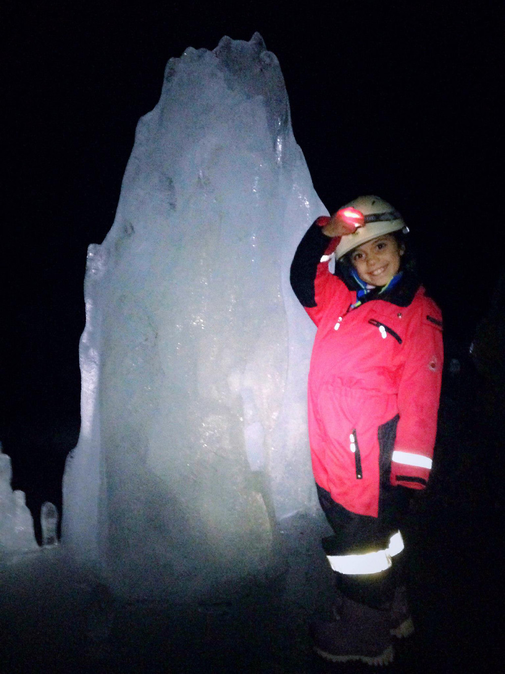 The Lofthellir ice cave tour is suitable for children 8 years and up