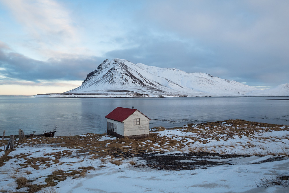 Iceland in winter on Snaefellsnes peninsula