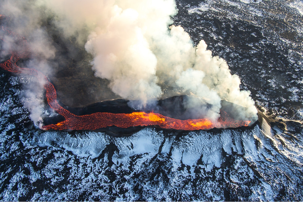 Many volcanoes in Iceland are active