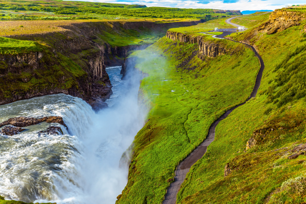 Gullfoss waterfall in South Iceland on the Golden Circle