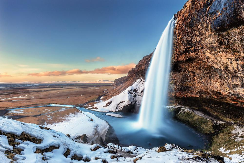 Iceland South Coast Seljalandsfoss Waterfall