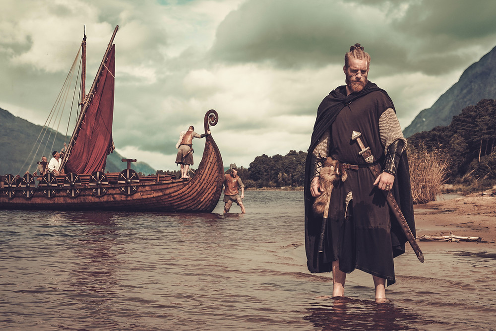 The Iceland language descending from the Vikings