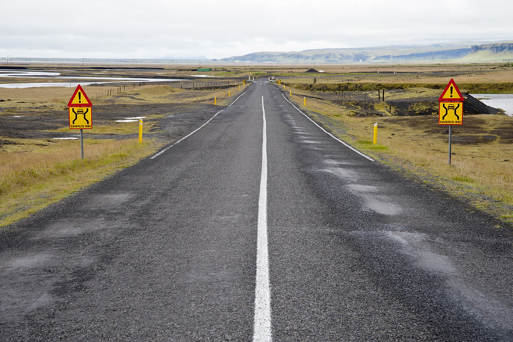 Iceland driving safety and road signs
